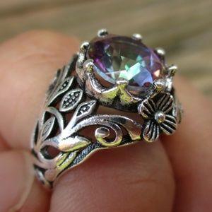°•○RE-STOCKED○•° Vintage Style Mystic Topaz Ring